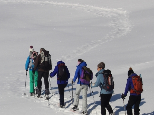 SNOWSHOEING IN THE ABONDANCE VALLEY